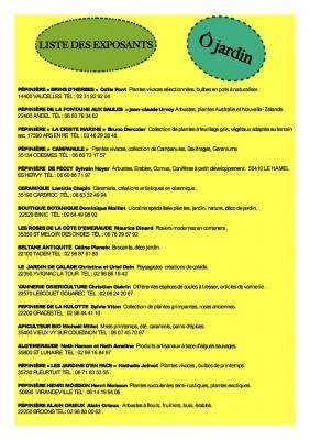 Liste exposants o jardin page1