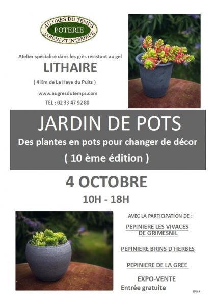 Jardin de pots affiche 2023